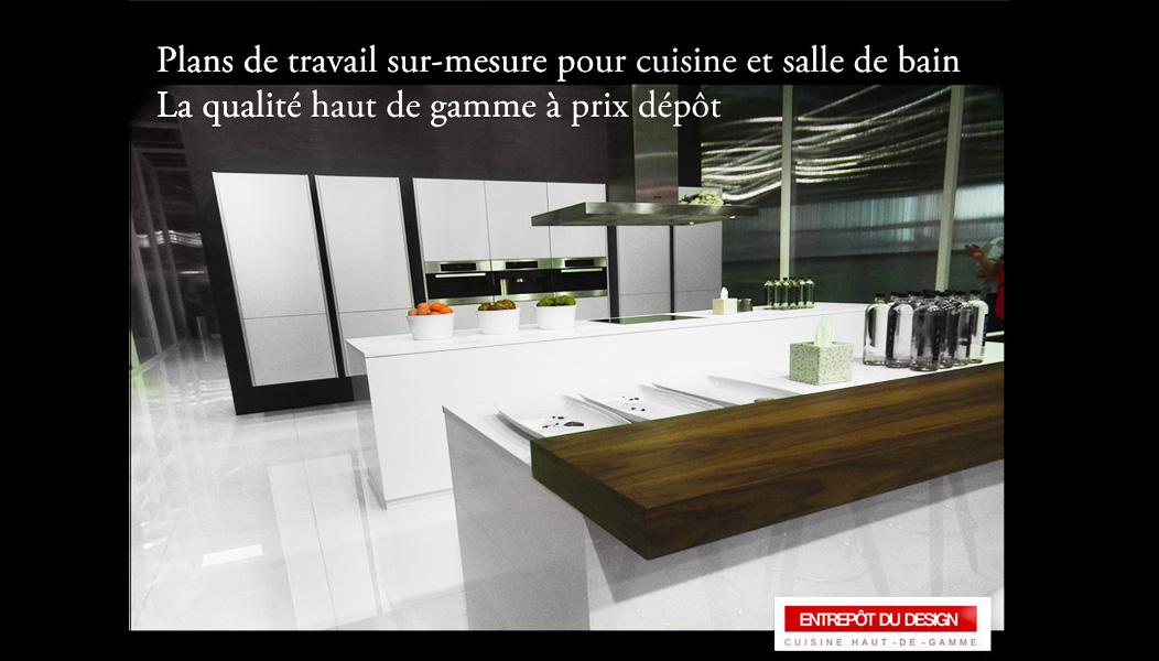 Table de travail cuisine sur mesure sofag for Plan de travail pour table de cuisine