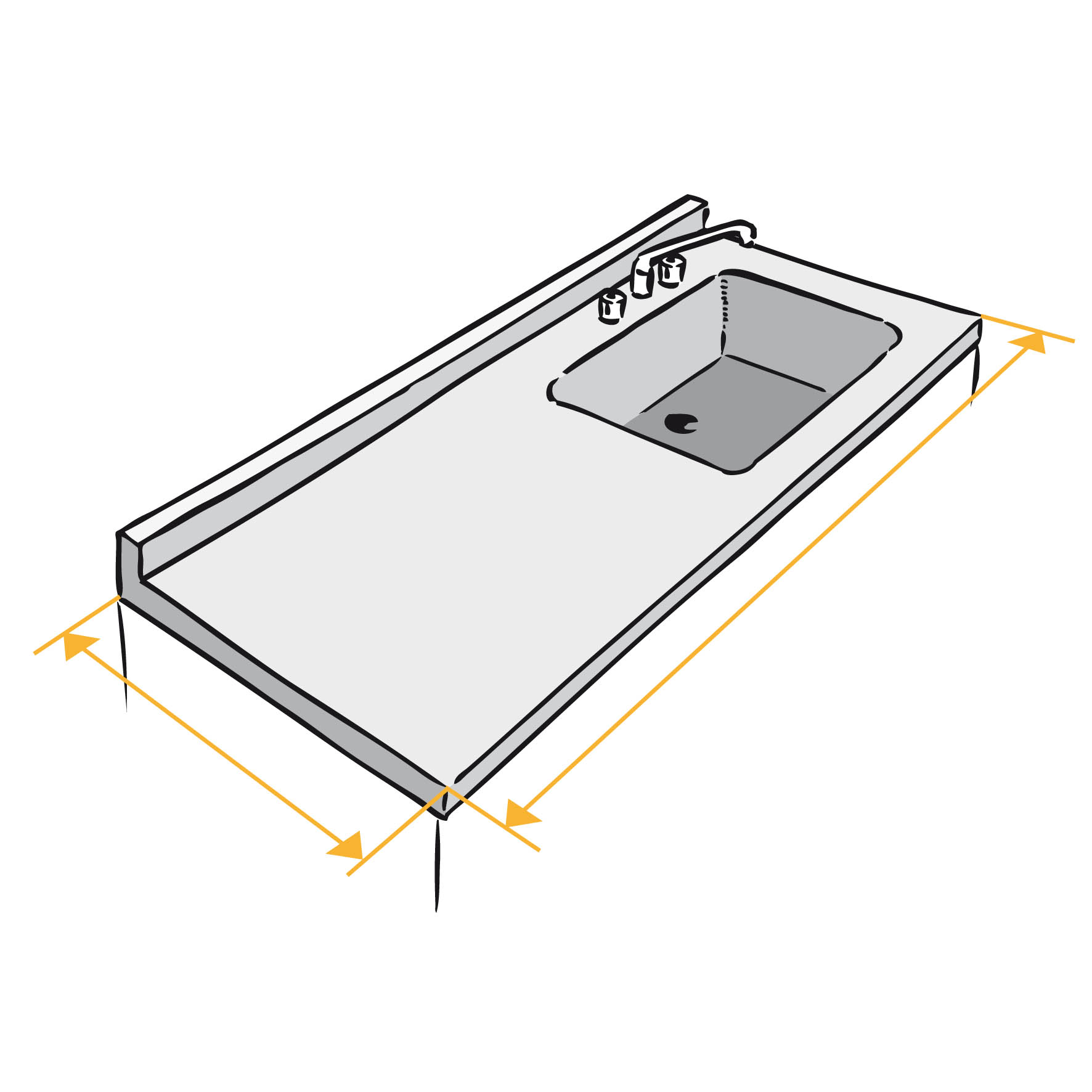 Table de travail cuisine sur mesure sofag for Plan de travail pour bureau sur mesure
