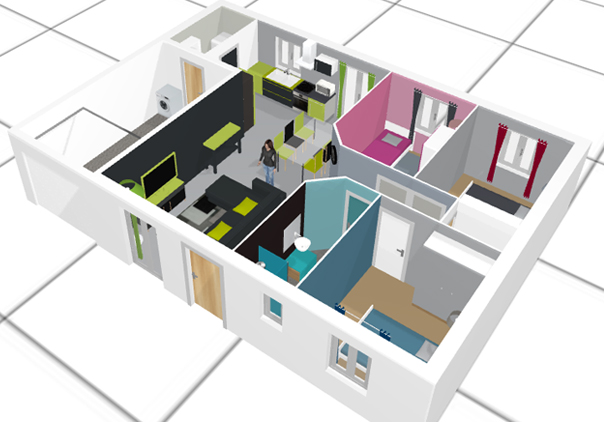 Plan appartement 3d gratuit sofag for Appartement 3d gratuit