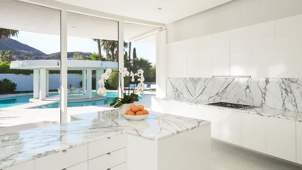 Cuisine en marbre blanc sofag - Cuisine marbre blanc ...