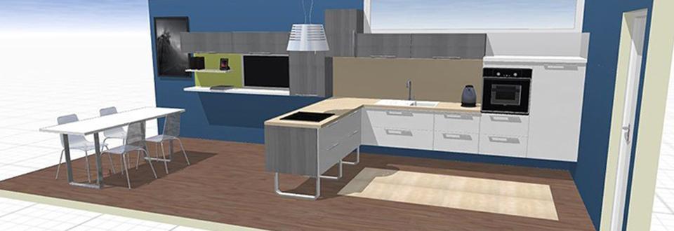 Cuisine 3d sofag for Configurer sa cuisine 3d