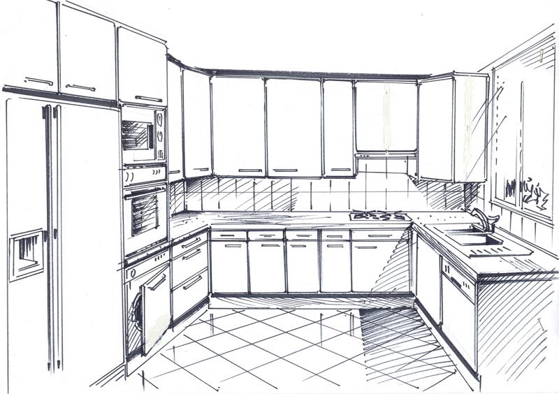 Dessin cuisine sofag - Dessin cuisine 3d ...