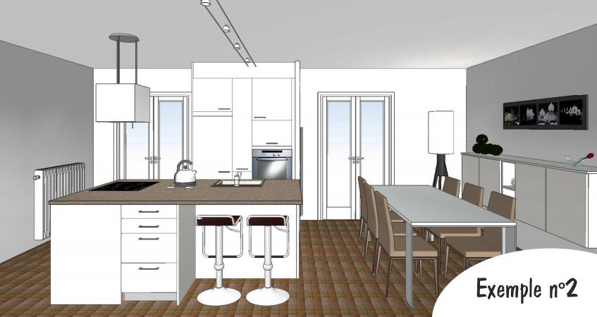 Plan de cuisine en 3d sofag for Faire une cuisine en 3d