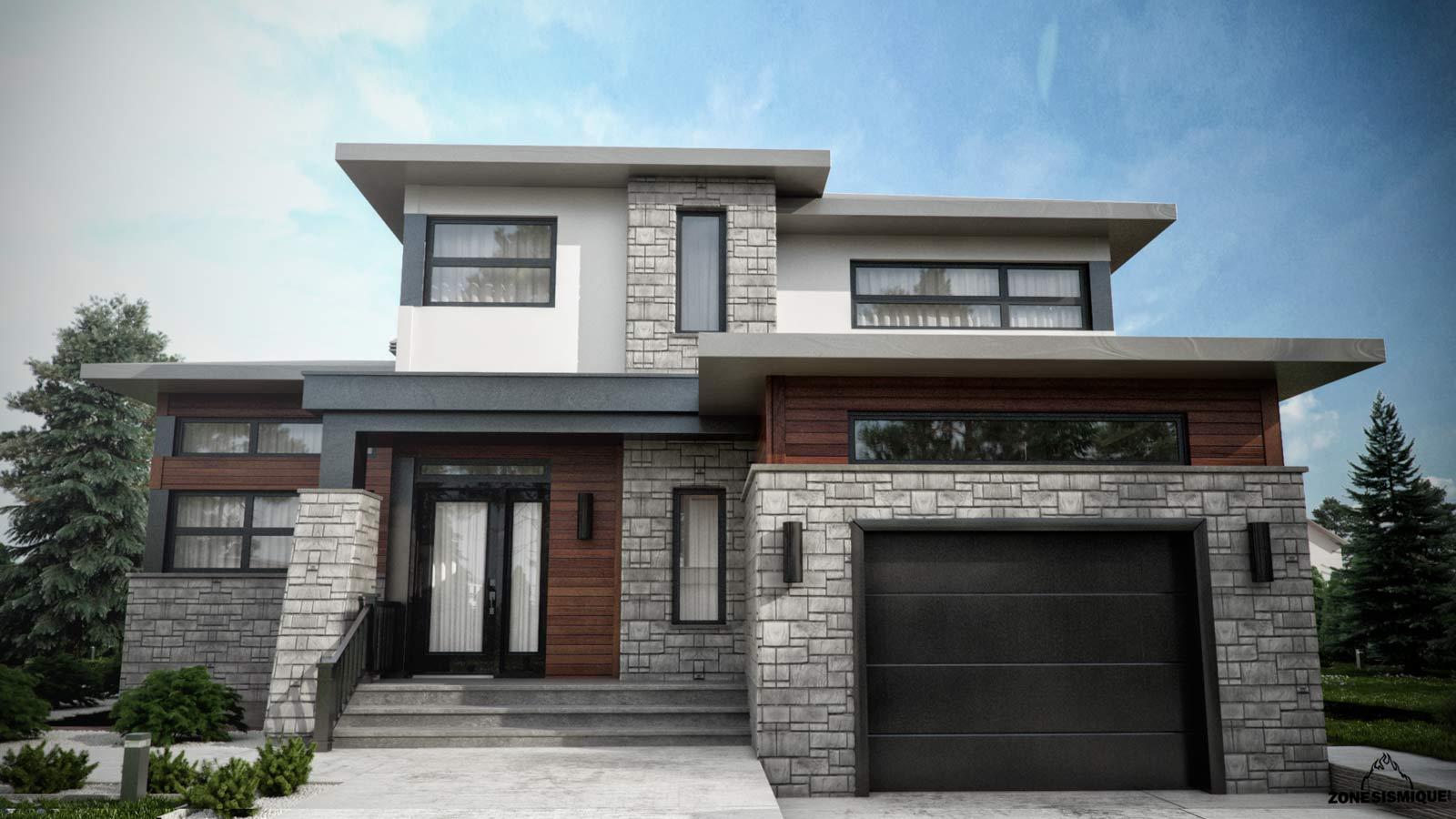 Maison pierre moderne sofag - Maison en pierre moderne ...