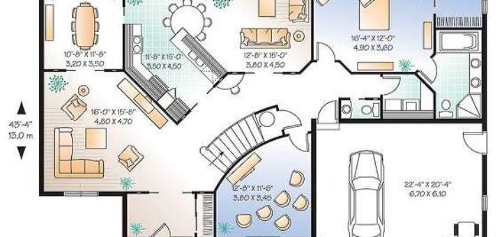 plan de maison 400m2