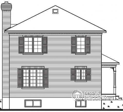 Plan maison coloniale sofag for Plan maison coloniale