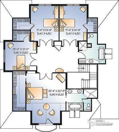 plan de maison rustique sofag. Black Bedroom Furniture Sets. Home Design Ideas