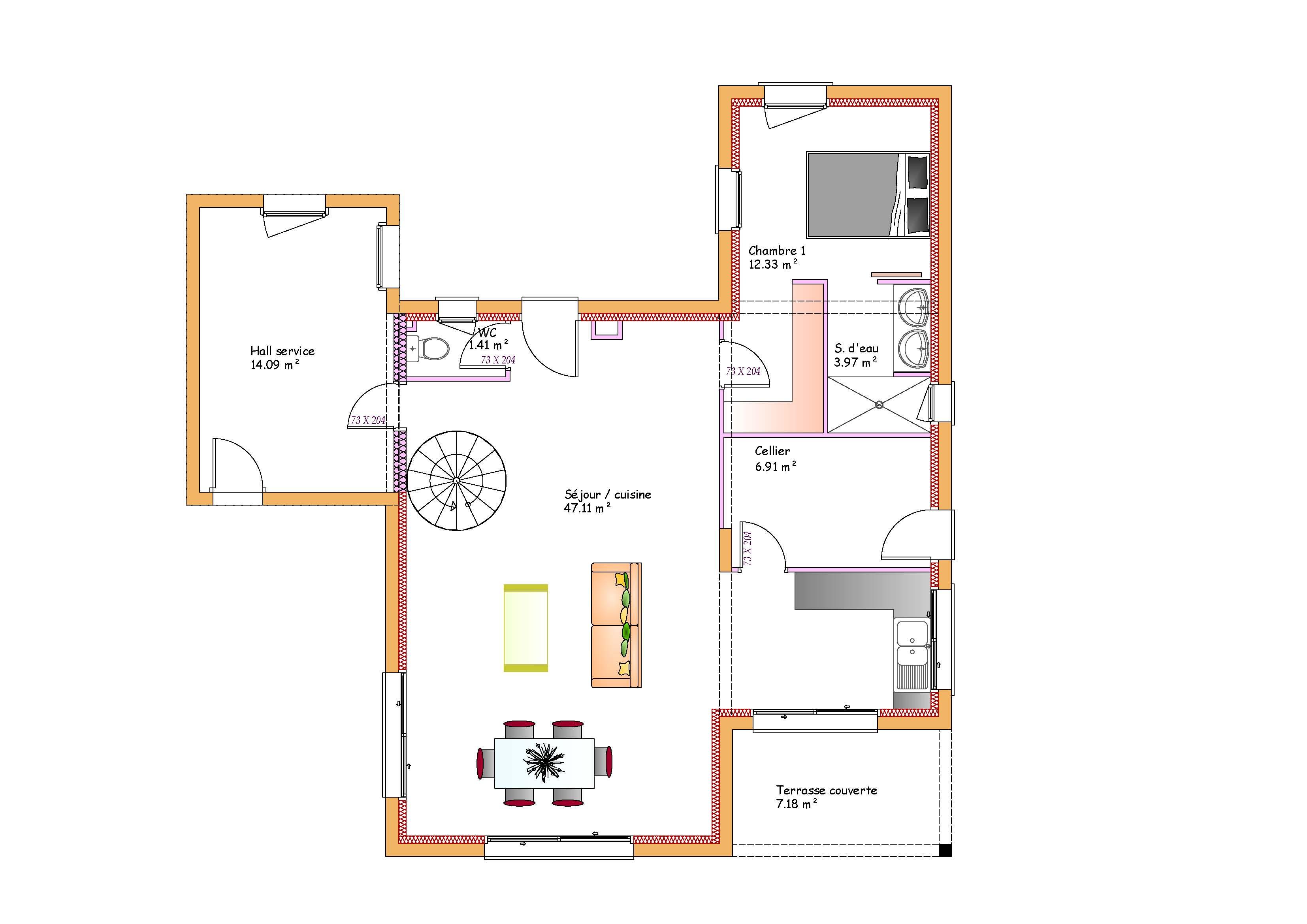 Plan maison toit plat sofag for Plan maison toit plat etage
