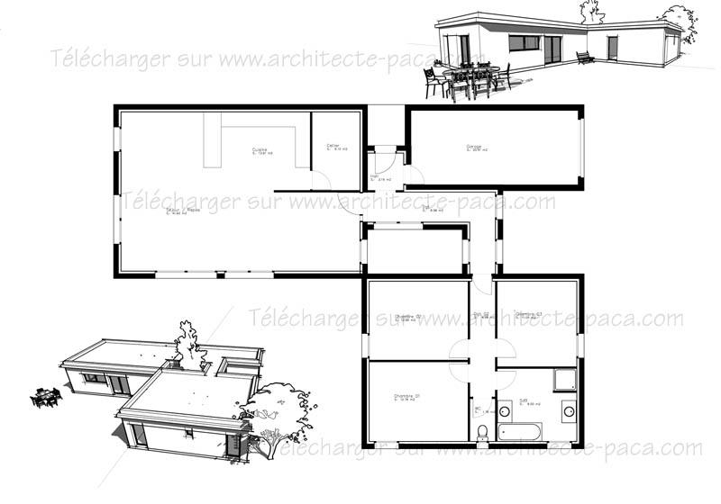 plan architectural maison - Plan Architecturale De Maison