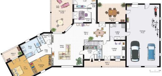 Plan De Grande Maison Fabulous Cool Plan Habill Etage Maison Maison
