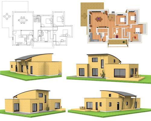 Plan maison exterieur sofag for Plan maison exterieur