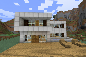 Comment faire une maison de luxe dans minecraft sofag - Comment faire une chambre moderne minecraft ...