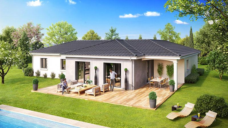 Photo maison plain pied sofag for Google vue des maisons