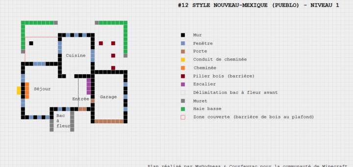Gut bekannt Minecraft plan maison - sofag TT07