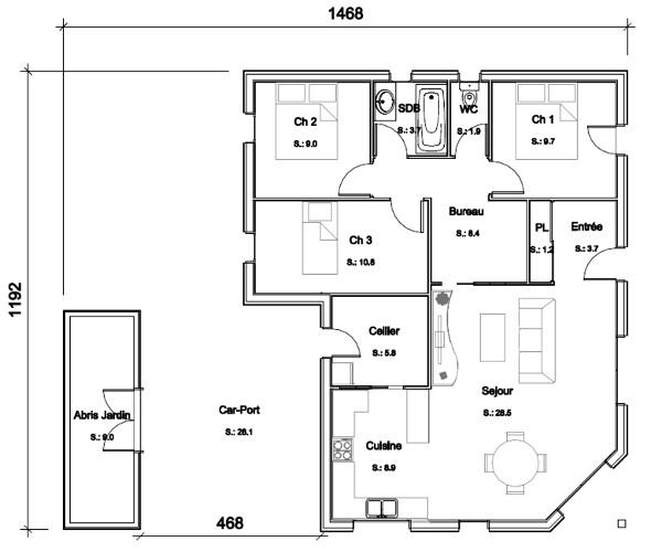 Idées plan maison contemporaine - sofag