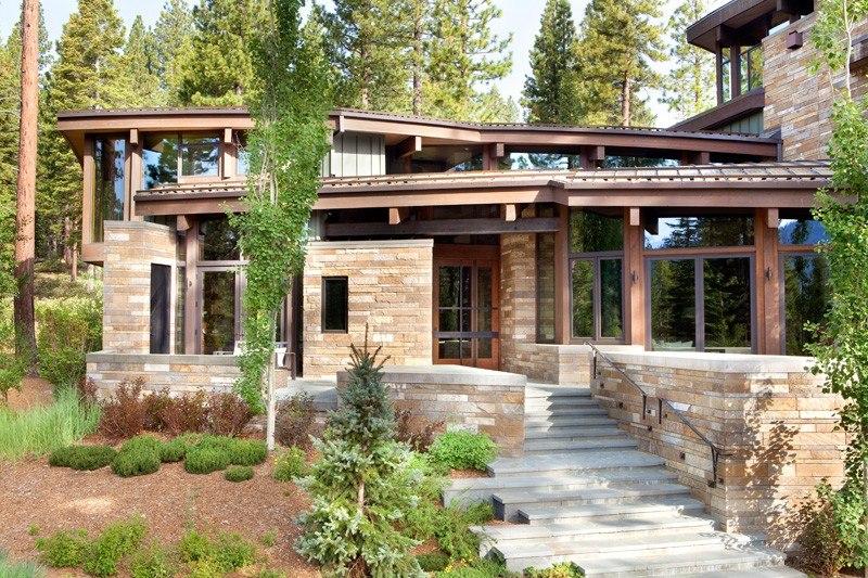 Maison moderne bois et pierre sofag for Maison bois moderne 60m2