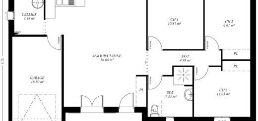 Plan Maison Jumele Plain Pied  Ides Dcoration Intrieure
