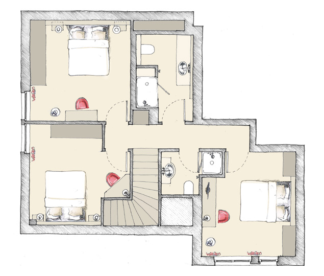 Maison duplex plan sofag for Maison duplex plan