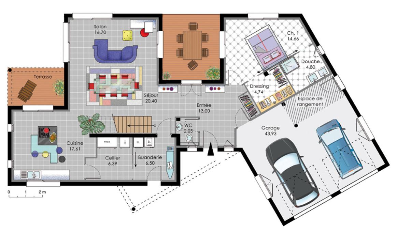 Plan maison moderne sofag for Site decoration maison gratuit