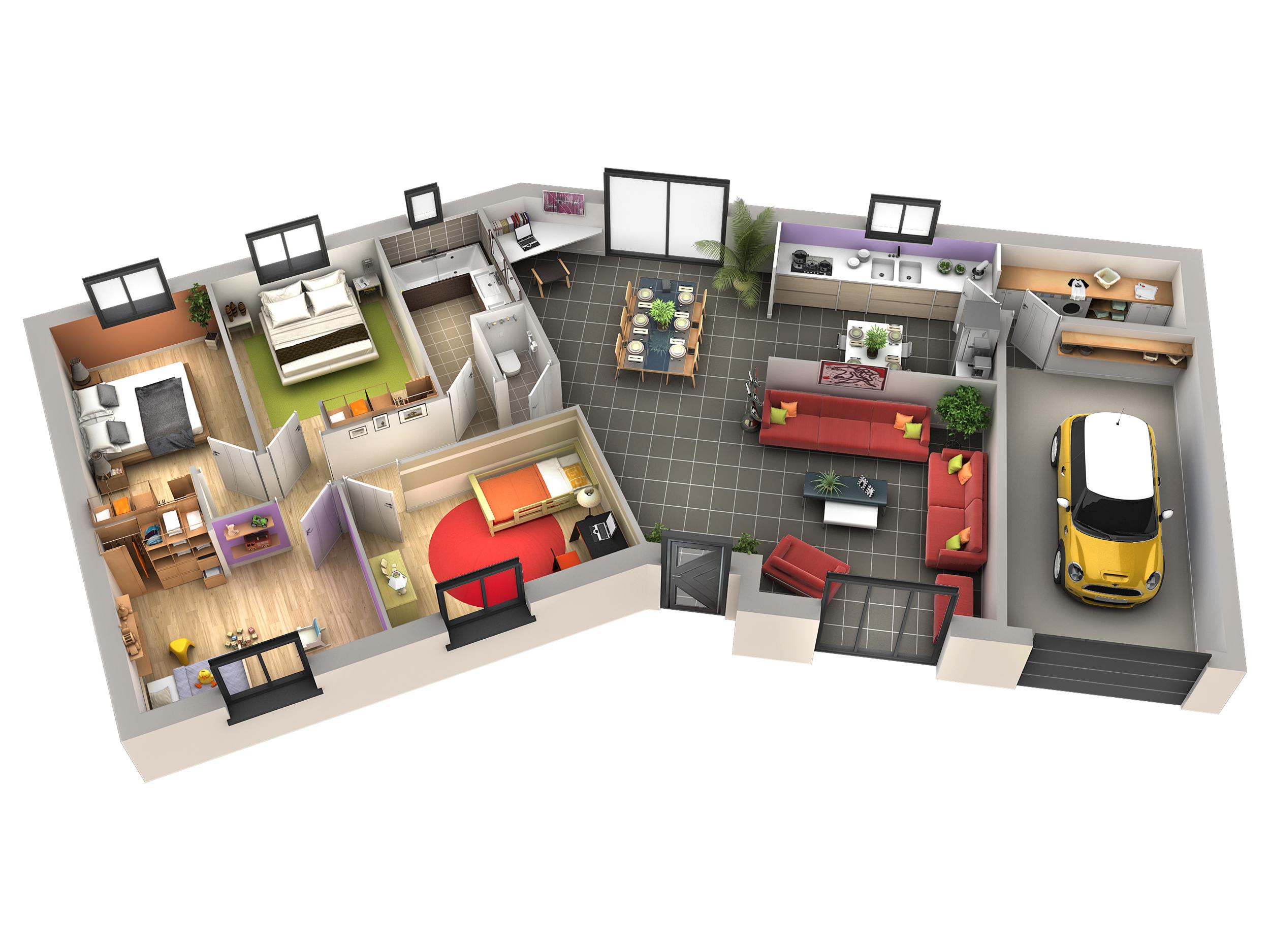 plan interieur maison sofag. Black Bedroom Furniture Sets. Home Design Ideas