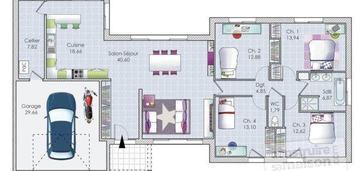 plan maison originale sofag. Black Bedroom Furniture Sets. Home Design Ideas