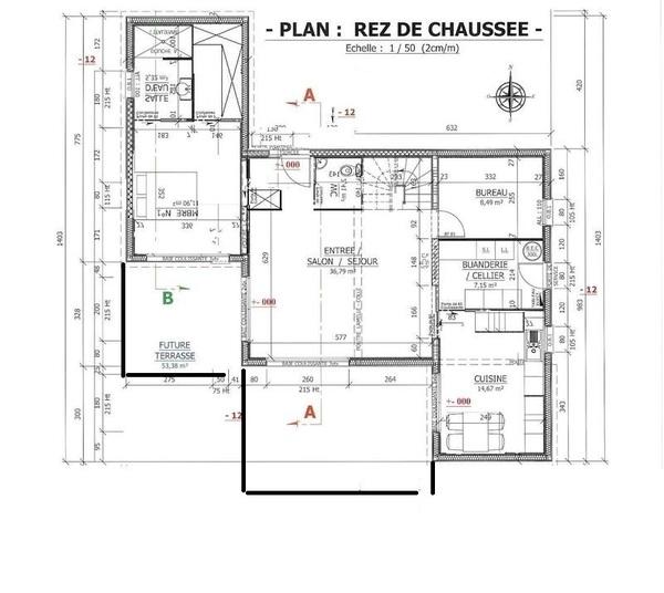 Plan de maison r 1 sofag - Maison 150m2 plain pied ...