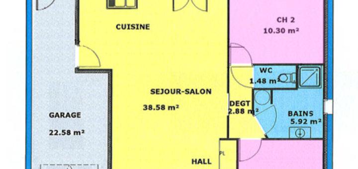 Free Plan De Maison M With Plan Maison 70m2 Plein Pied