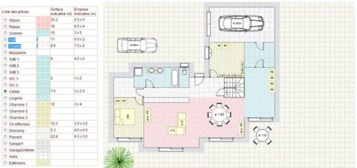 Plan De Maison M Plan Maison M Plein Pied Plan De Maison