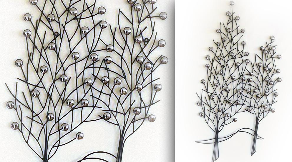 D coration murale en fer forg sofag for Decoration pour jardin en fer forge