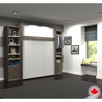 lit escamotable queen sofag. Black Bedroom Furniture Sets. Home Design Ideas