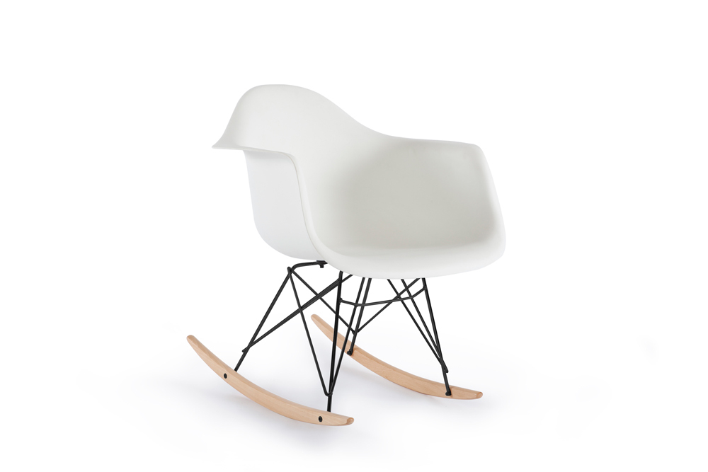 Free Chaise Scandinave A Bascule With Blanc