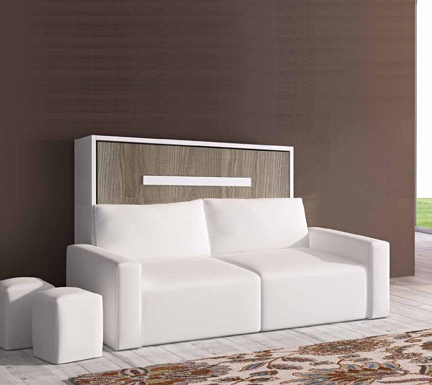 lit escamotable avec canape integre - Armoire Lit Escamotable Canape Integre