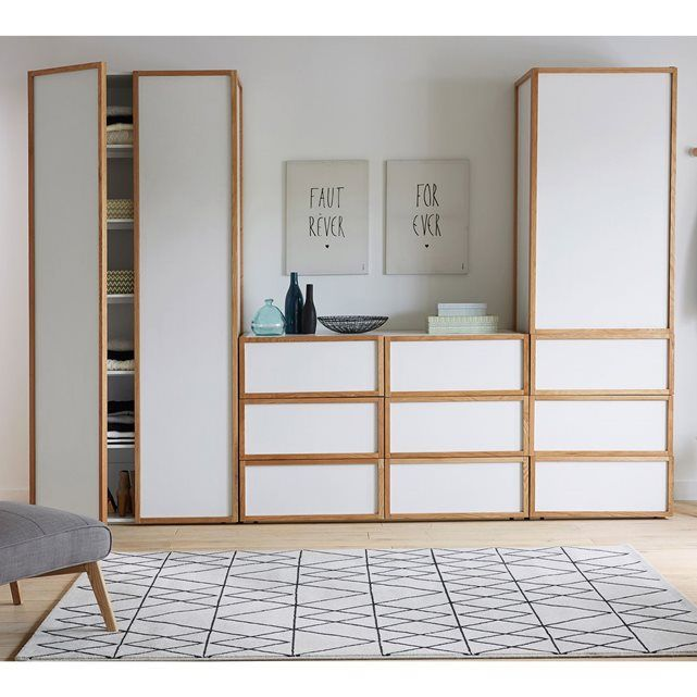 armoire chambre scandinave sofag. Black Bedroom Furniture Sets. Home Design Ideas