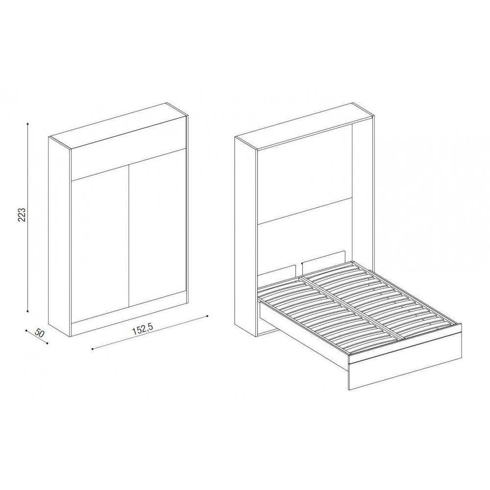 Armoire lit electrique sofag - Lit escamotable electrique 2 personnes ...