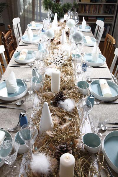 Decoration de table scandinave - Table de noel scandinave ...