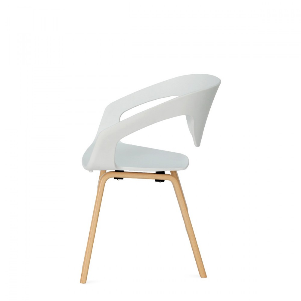 Chaise blanche design scandinave sofag for Chaises blanches scandinaves