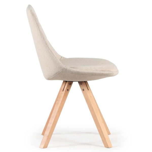 chaise scandinave tissu beige sofag. Black Bedroom Furniture Sets. Home Design Ideas