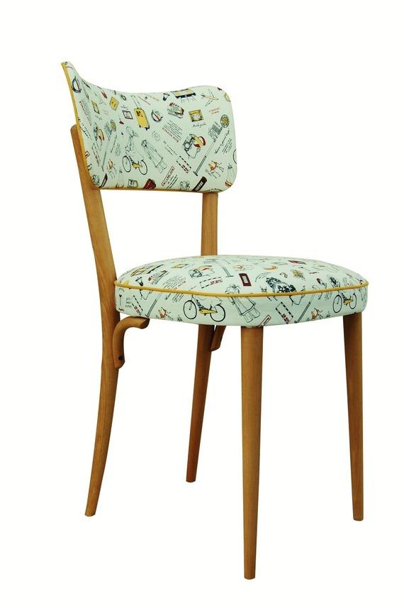 chaise tissu vintage sofag. Black Bedroom Furniture Sets. Home Design Ideas