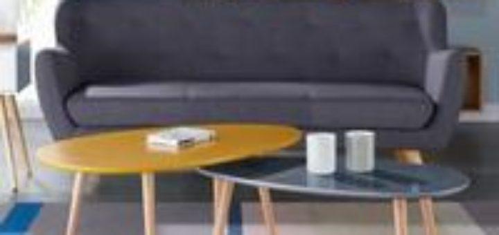 table scandinave jaune sofag. Black Bedroom Furniture Sets. Home Design Ideas