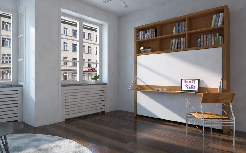 lit escamotable bibliotheque sofag. Black Bedroom Furniture Sets. Home Design Ideas