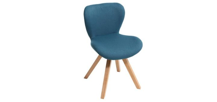 chaise bleu perfect chaise bleu canard fauteuil de table velours vintage luxore fauteuil. Black Bedroom Furniture Sets. Home Design Ideas