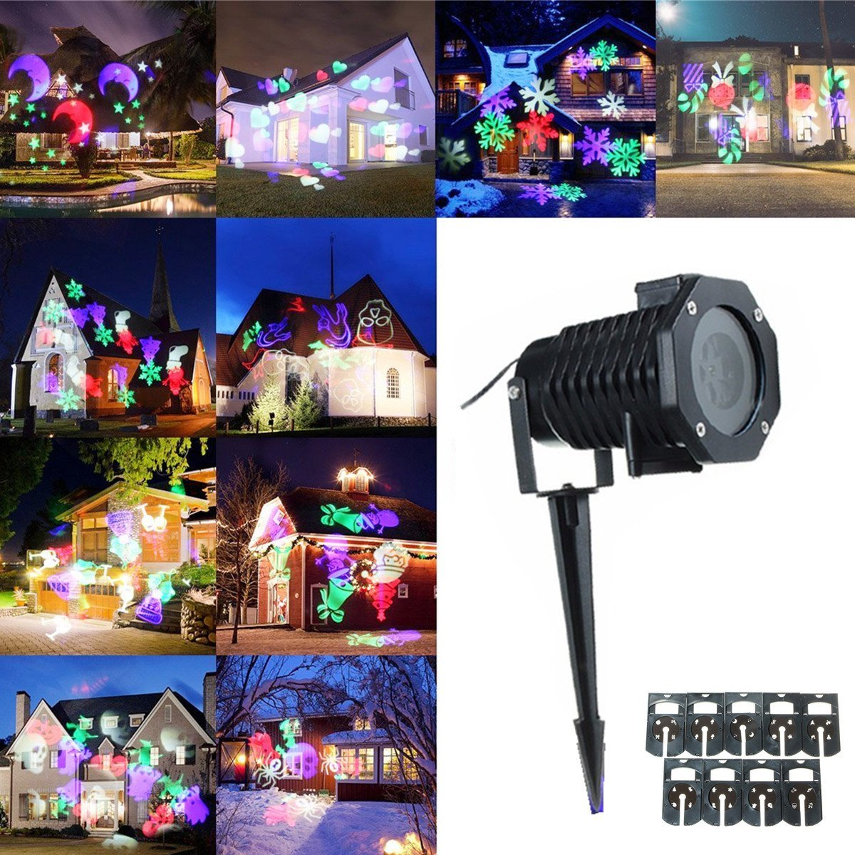Projecteur led exterieur pour noel sofag for Projecteur led decoration noel exterieur