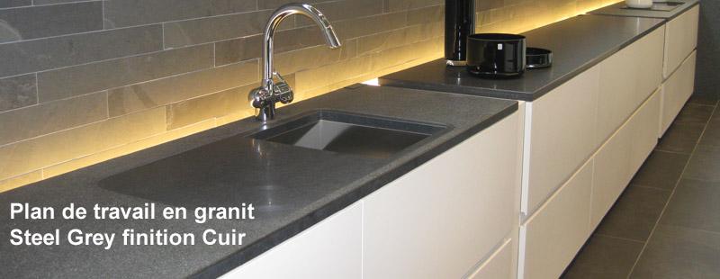 Plan travail en granit sofag - Cuisine plan de travail granit noir ...