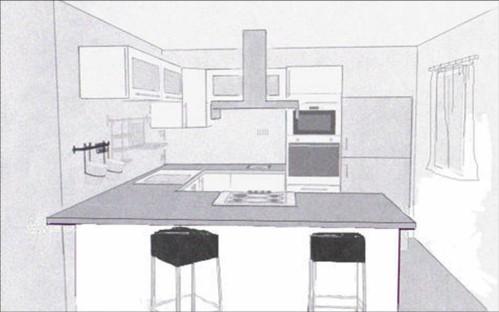 Dessiner cuisine en 3d sofag - Logiciel plan cuisine ...