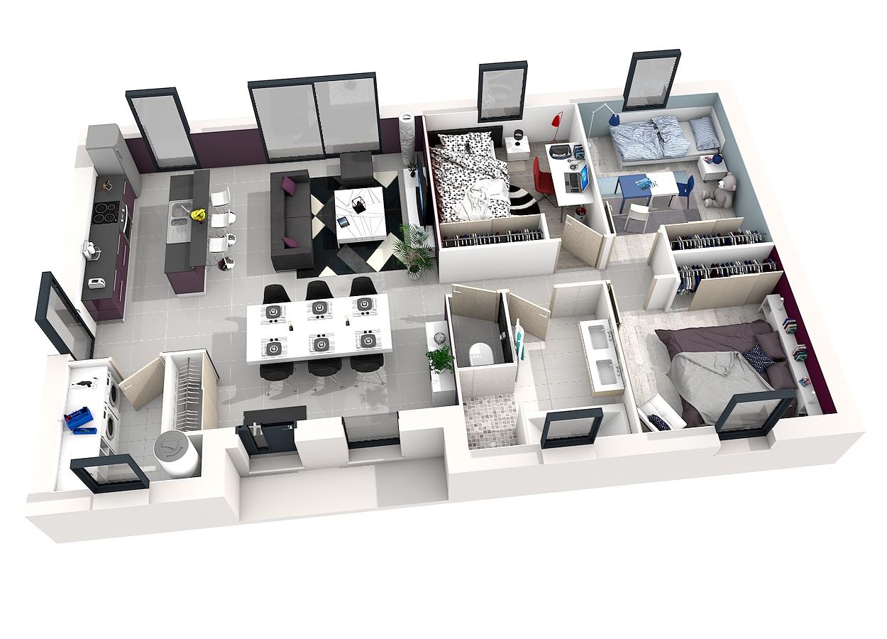 Plan maison 3d gratuit et facile - sofag
