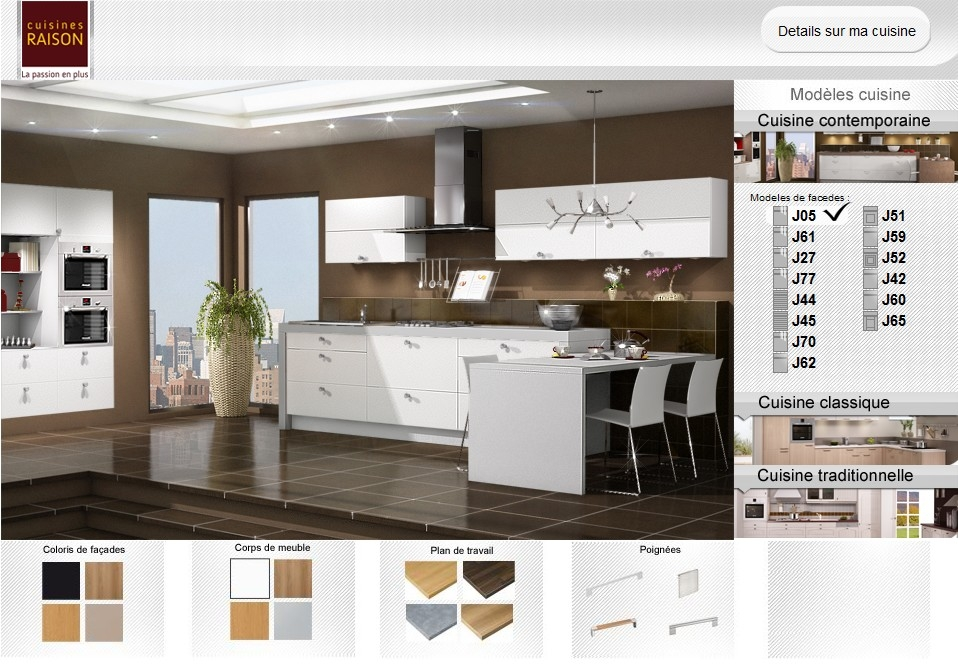 Cuisine virtuelle 3d gratuit sofag for Amenagement cuisine 3d