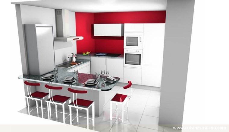 am nagement de cuisine en 3d sofag. Black Bedroom Furniture Sets. Home Design Ideas