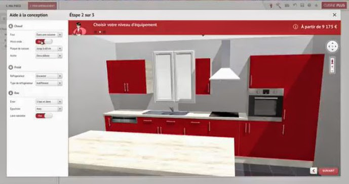modelisation cuisine 3d sofag. Black Bedroom Furniture Sets. Home Design Ideas