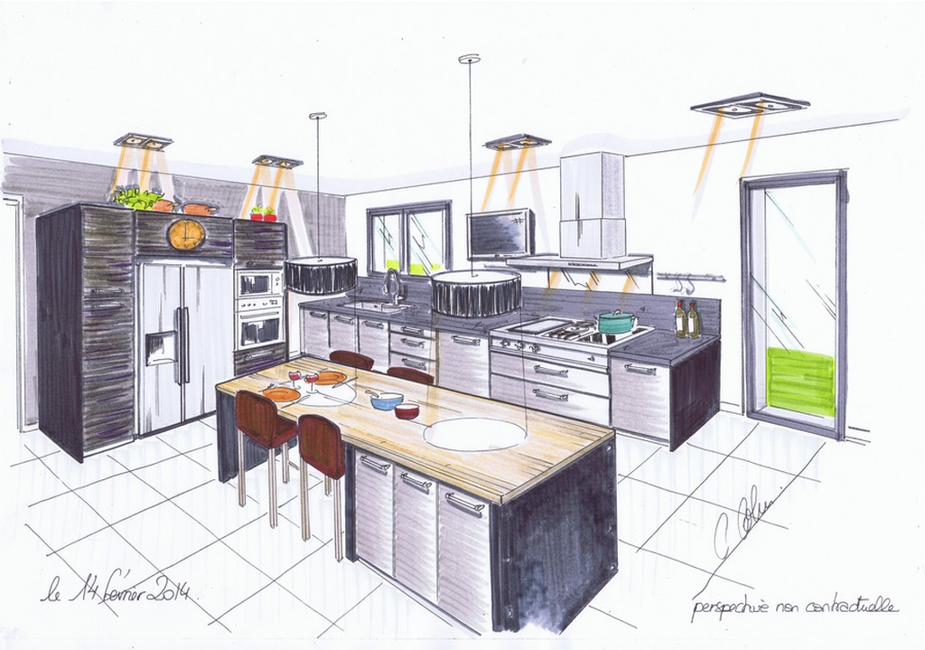dessiner un plan de cuisine sofag. Black Bedroom Furniture Sets. Home Design Ideas