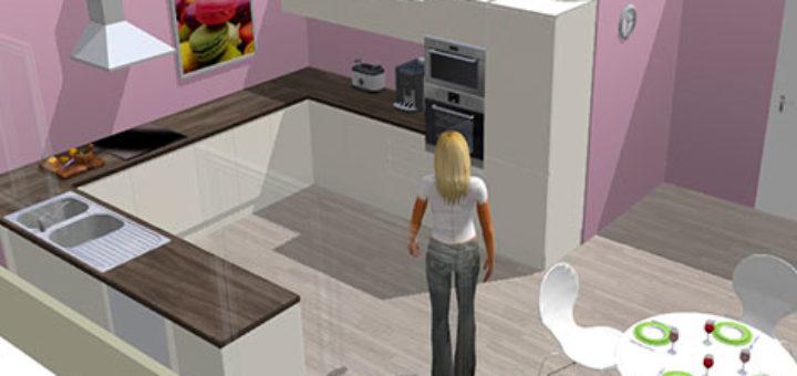 Simulateur de cuisine 3d gratuit sofag - Simulateur peinture cuisine gratuit ...